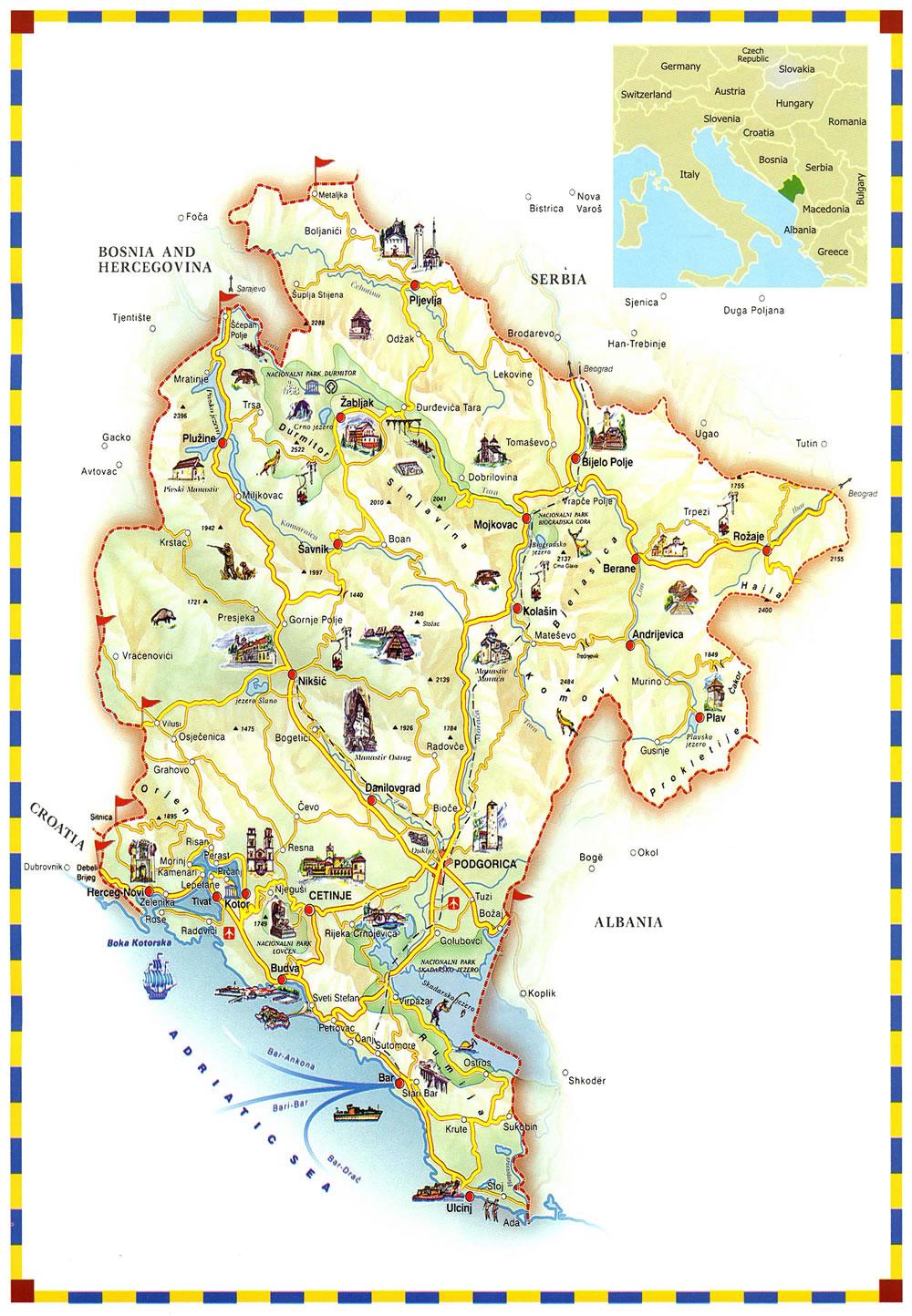 Mapas De Montenegro Guia De Turismo De Montenegro